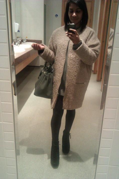 cocoon coat topshop