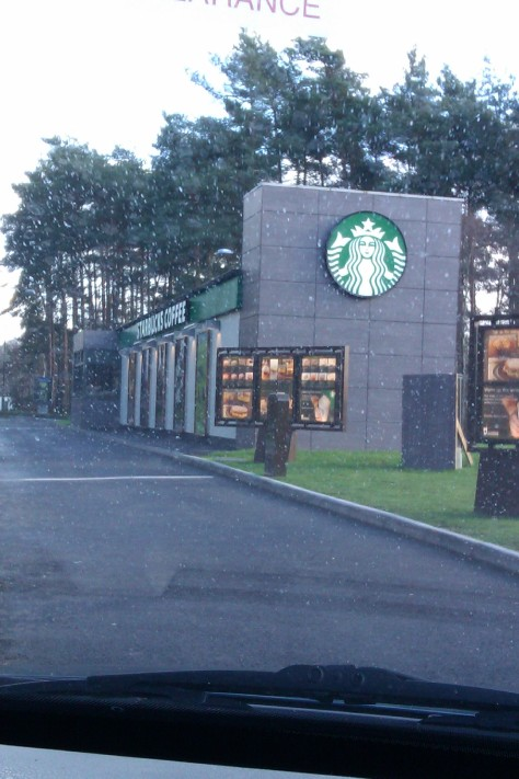 Drive thru starbucks hants