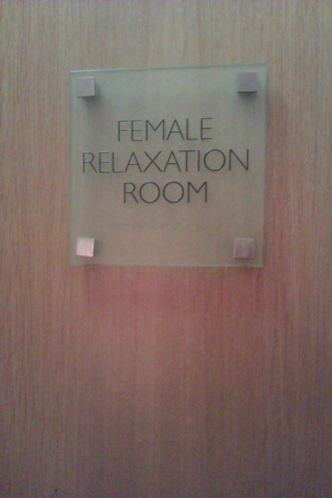female relaxation room