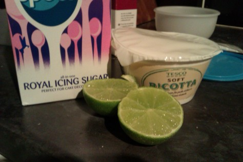 white lime frosting