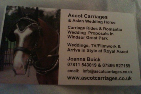 ascot carriage details