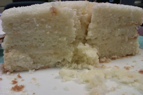 front shot white cake