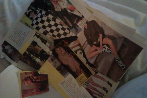clippings of outfits