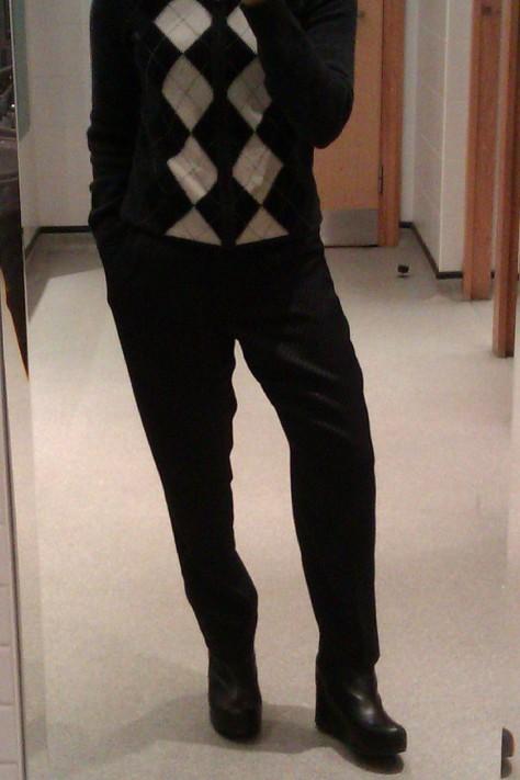 dress down monochrome