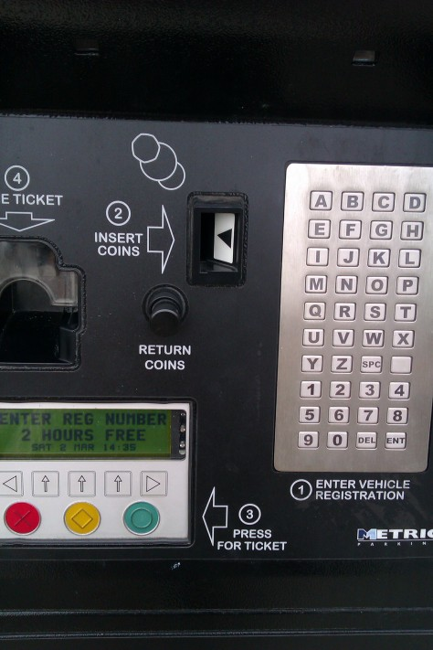 vehicle registration ticket machine