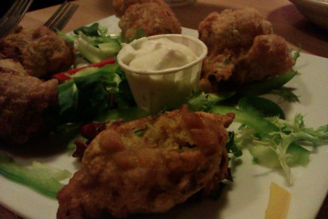 up close saltfish fritters