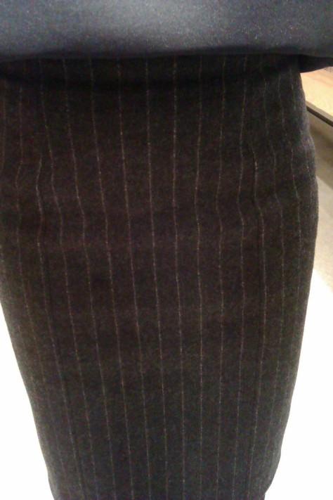 YSL pinstripe skirt