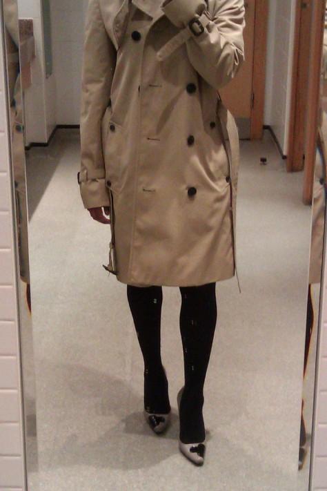 undone trech coat
