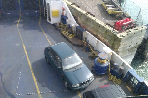 my car on the ferry