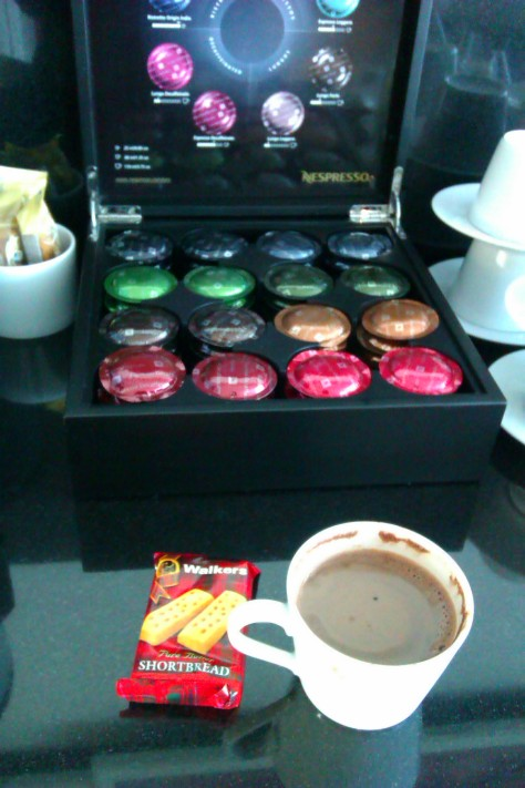 hot chocolate and nespresso pods