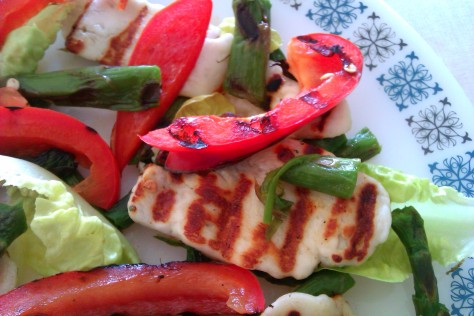 halloumi pepper salad