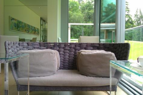 comfortable seats at spa