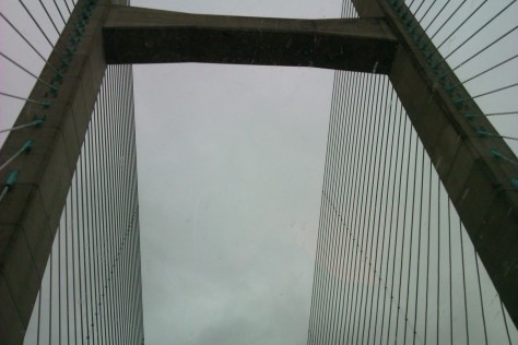 Severn Bridge through sunroof