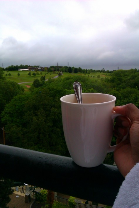 tea on the balcony