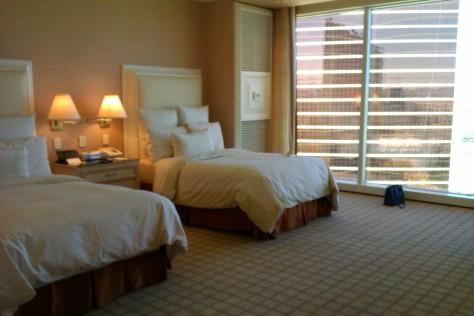 hotel room beds