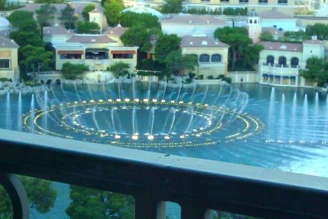 bellagio daytime fountains
