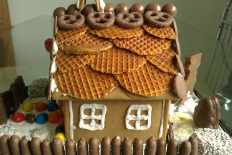 gingerbread waffle roof