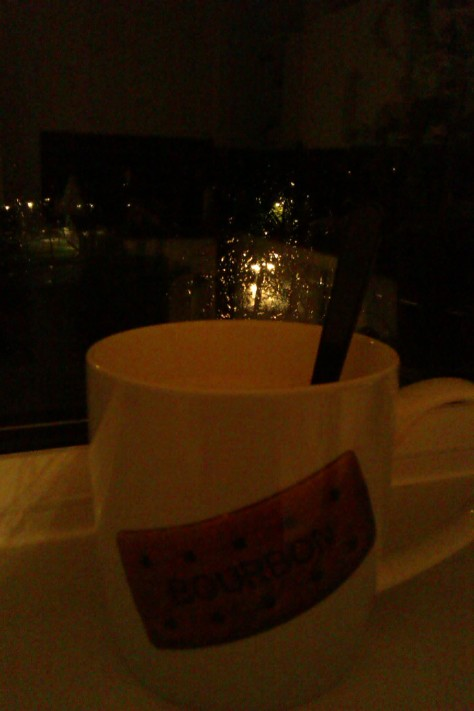 rainy evening hot chocolate