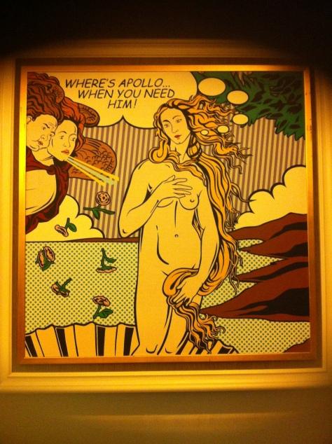 pop art birth of venus