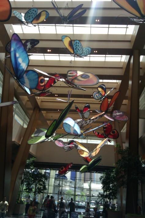 Aria lobby butterflies