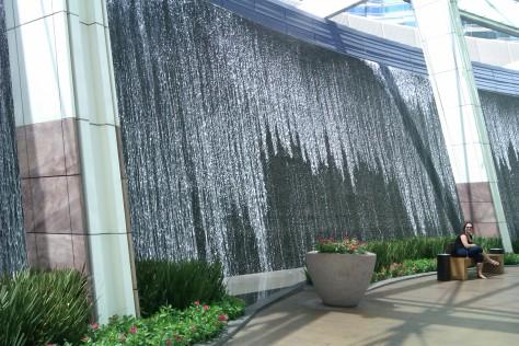 city center waterfall
