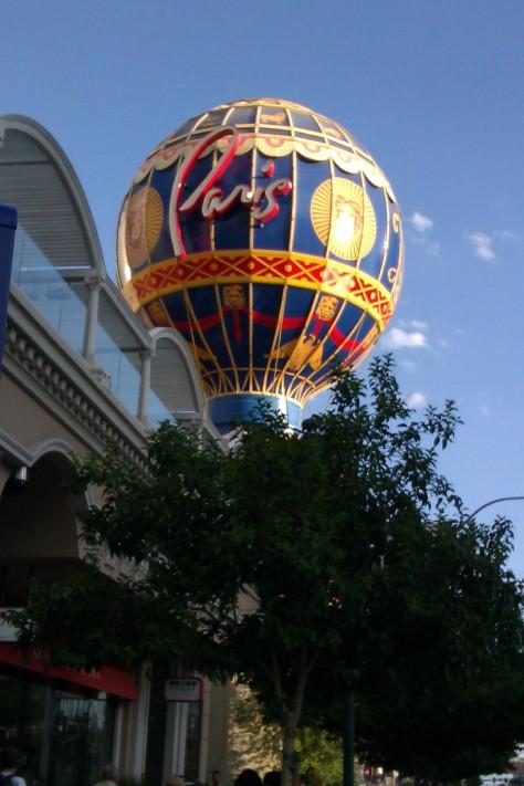 paris hot air balloon las vegas