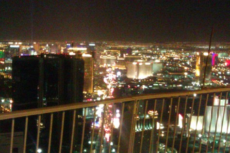 view from stratosphere of the strip