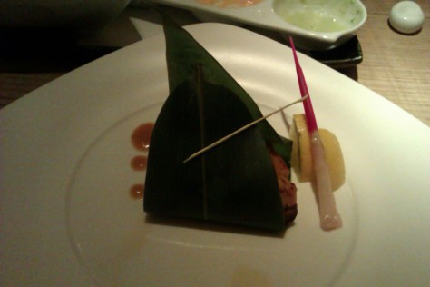 Wrapped black cod den miso nobu