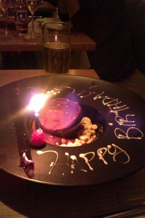 happy birthday dessert nobu