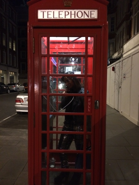 phone box ziggy stardust impression