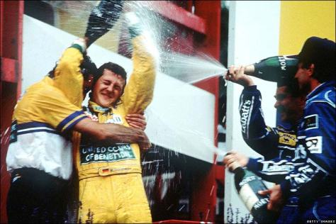 Schumacher's first f1 win