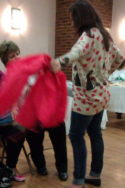 frimley fashion show - cat heart jumper