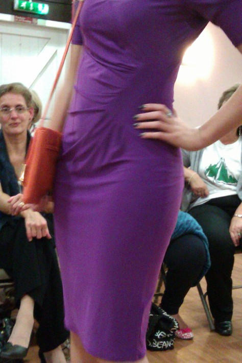 frimley fashion show - purple dress