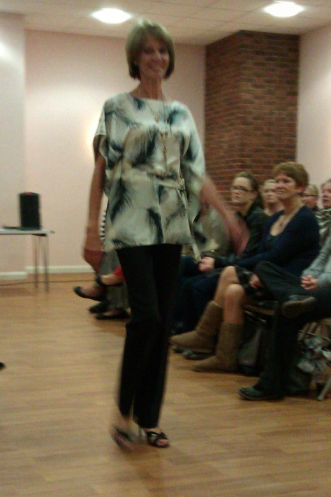 frimley fashion show - feather top