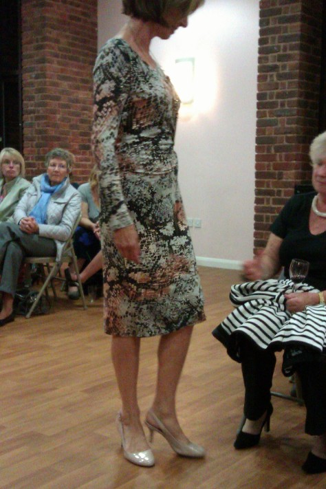 frimley fashion show - wrap dress