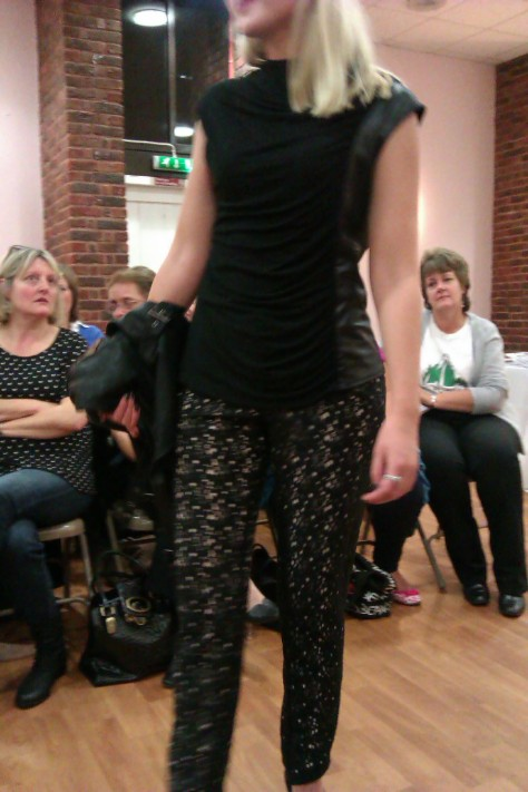 frimley fashion show - patterned trousers