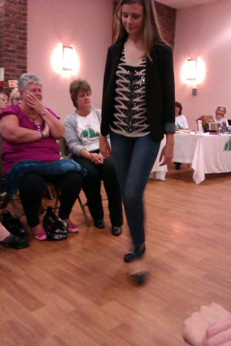 frimley fashion show -jeans and top