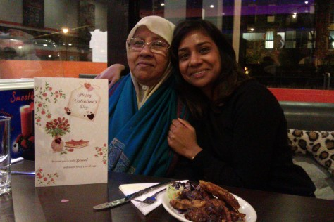 me and my mum at grill krayzee
