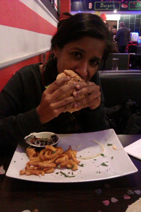 halal burger at grill krayzee