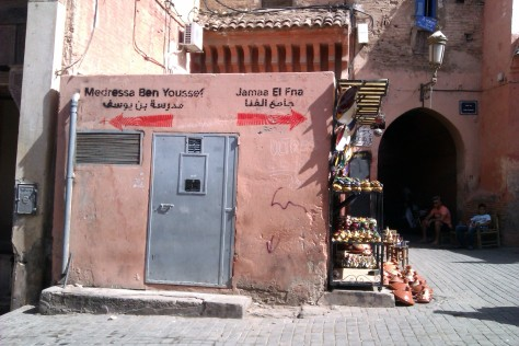 signs in marrakech souk