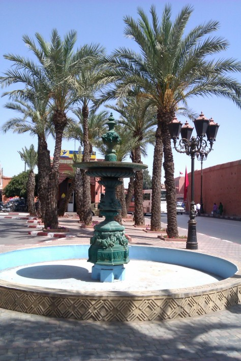 fountain in marrakech
