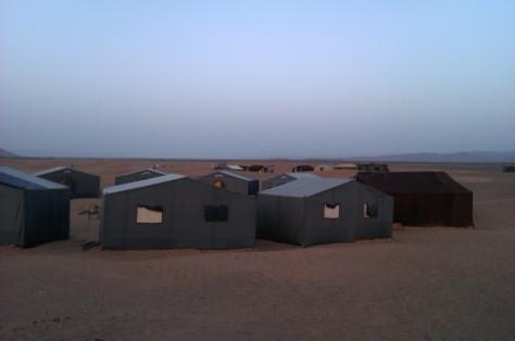 base camp in the desert