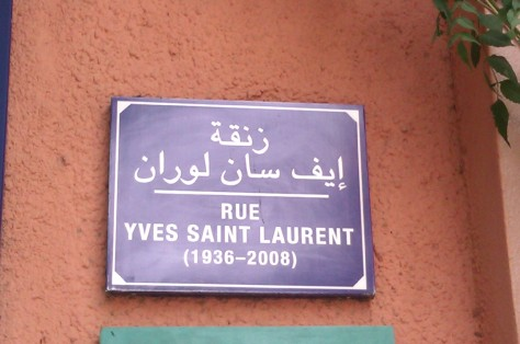 Rue Yves Saint Laurent