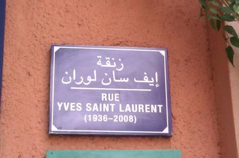 Rue Yves Saint Laurent