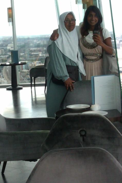 me and my mum at the shard