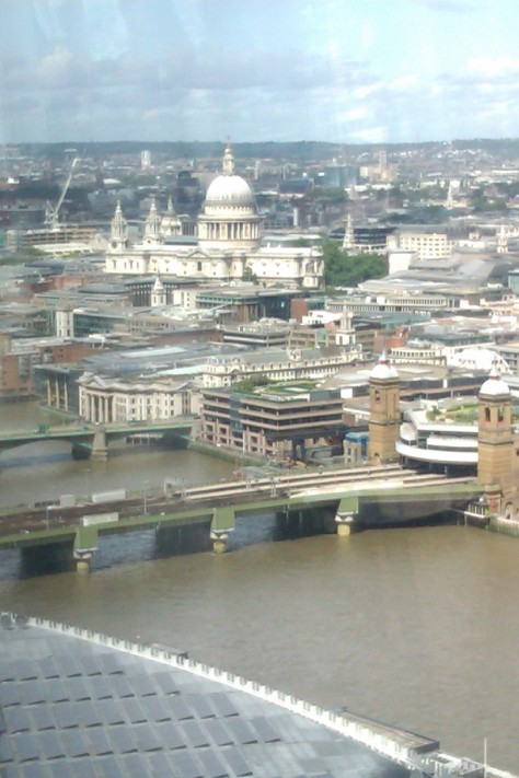 st pauls from the shard