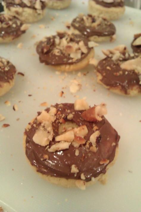 nutella baked doughnut